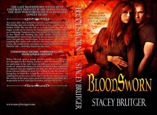 BloodSworn Print Cover by Stacey Brutger