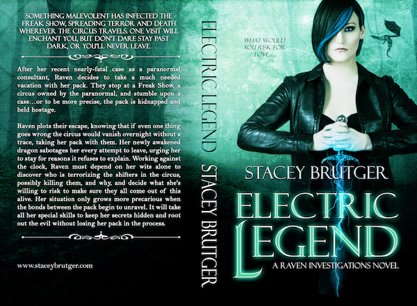 Electric Legend Print Cover by Stacey Brutger