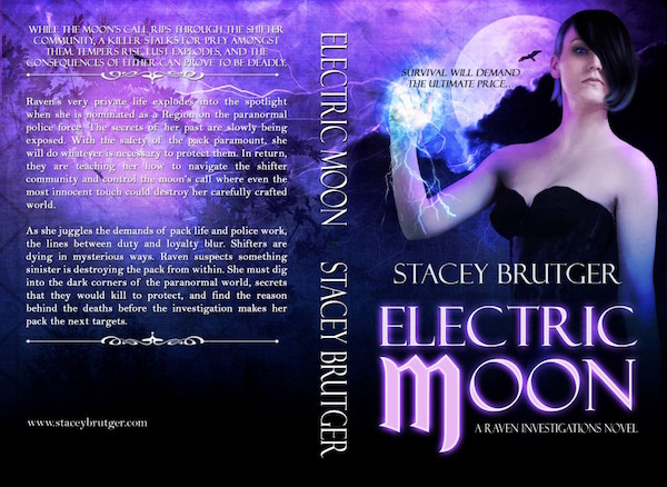 Electric Moon Print Cover by Stacey Brutger