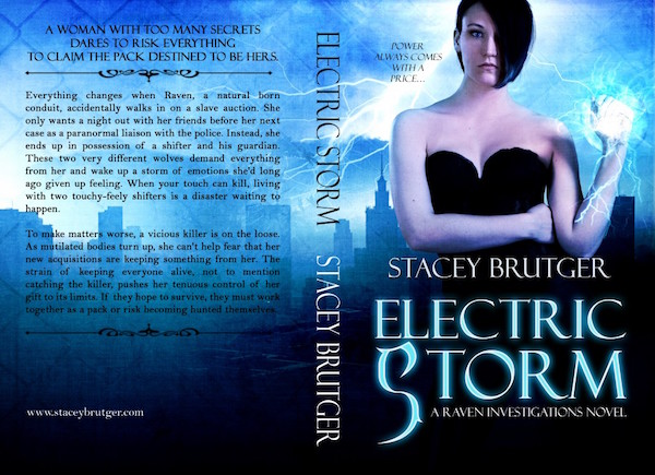 Electric Storm Print Cover by Stacey Brutger