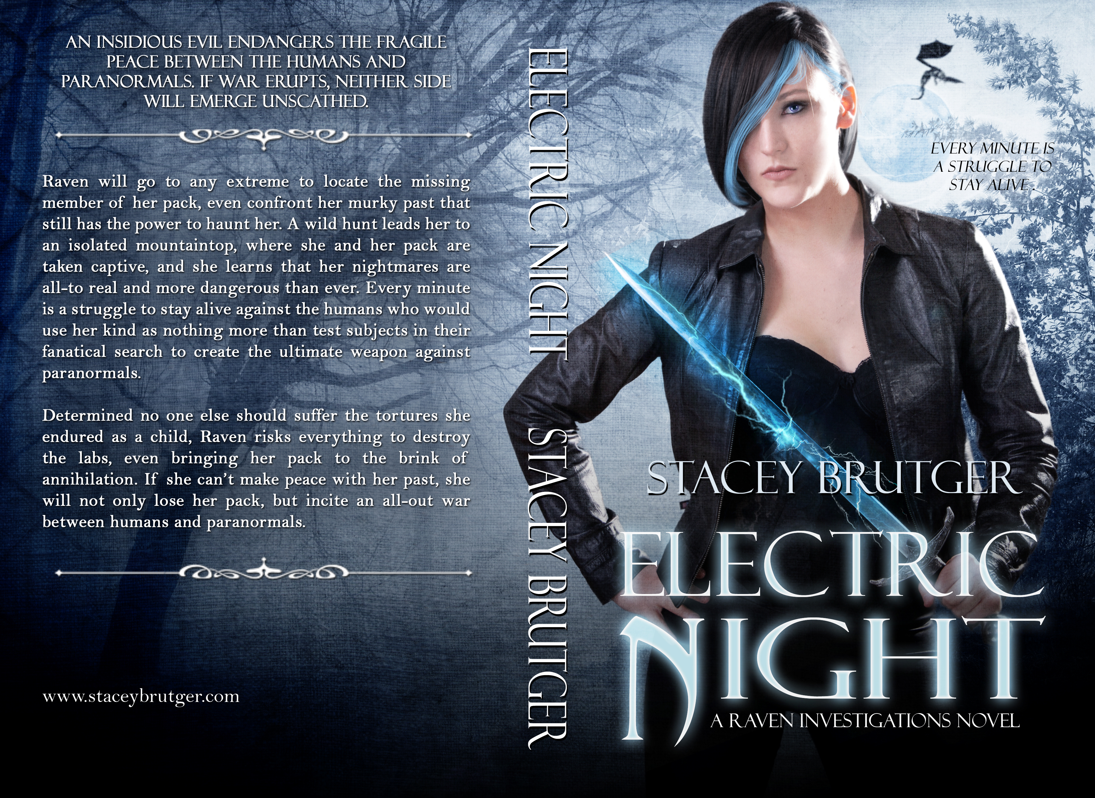 Electric Night Print Cover by Stacey Brutger